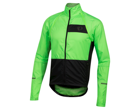 Pearl Izumi Elite Escape Convertible Jacket (Screaming Green/Black) (XS)