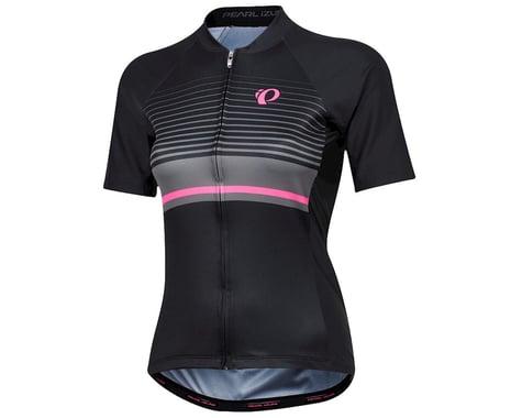 Pearl Izumi Women's Elite Pursuit Short Sleeve Jersey (Black/Smoked Pearl Flux) (L)