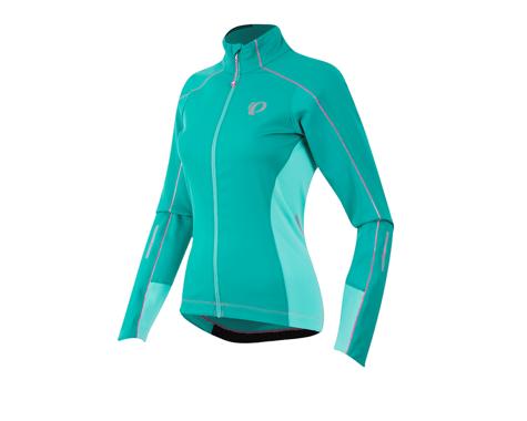Pearl Izumi Women's Elite Pursuit Softshell Jacket (Aqua) (Xlarge)