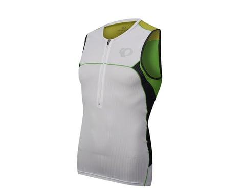 Pearl Izumi Elite In-R-Cool Tri Sleeveless Jersey (Green/White)