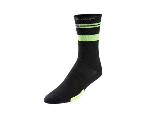 Pearl Izumi Elite Tall Sock (Black/Screaming Green Segment)