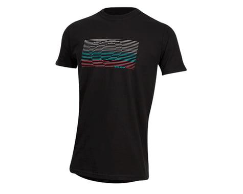 Pearl Izumi Organic Cotton T-Shirt (Lines Logo Black) (XL)
