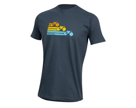 Pearl Izumi Organic Cotton T-Shirt (Bike Stripe Navy)