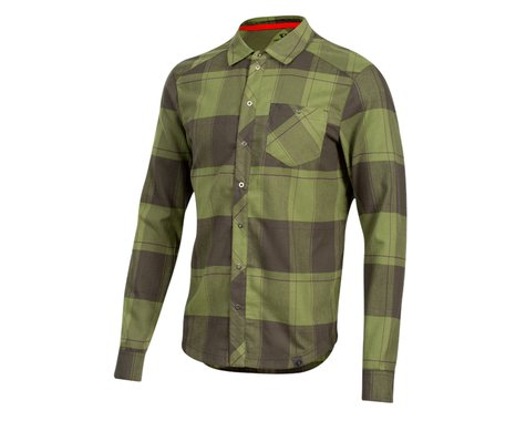 Pearl Izumi Rove Long Sleeve Shirt (Forest/Willow Plaid) (2XL)