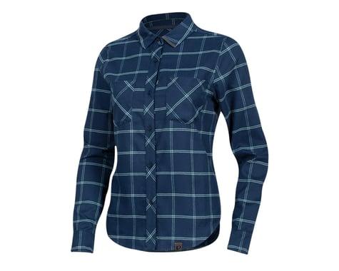 Pearl Izumi Women's Rove Long Sleeve Shirt (Navy/Aquifer Plaid) (XS)