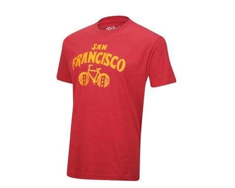 Pedal Pushers The Pedal Pusher Club Bike San Francisco T-Shirt (Red)