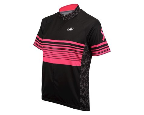 Performance Breast Cancer Short Sleeve Jersey (Black/Pink)