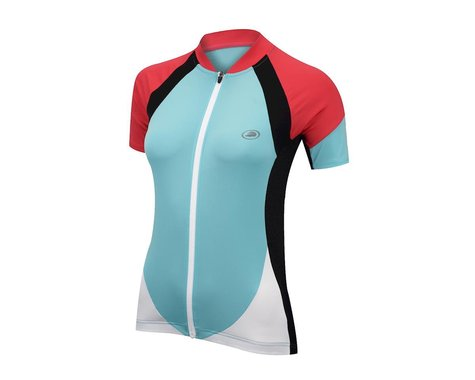 Performance Women's Elite Short Sleeve Jersey - 2017 (Blue/Pink) (Large)