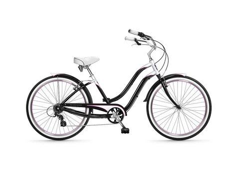 Phat Cycles Sea Crest Deluxe 26 Step-Through Beach Cruiser -- 6 Speed (Black)