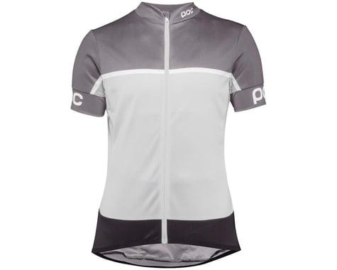 POC Essential Road Women's Short Sleeve Jersey (Uranium Black/Bareelene Grey) (S)