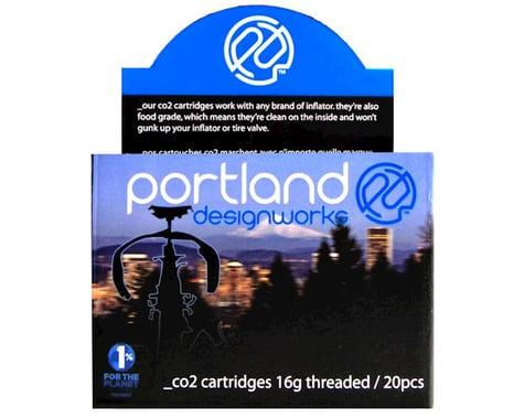Portland Design Works CO2 Refill Cartridges (Silver) (20 Pack) (16g)