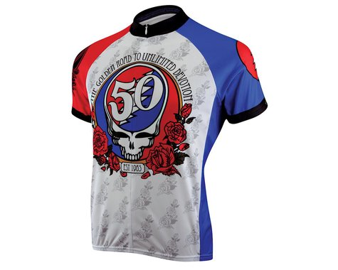 Primal Wear Grateful Dead 50th Anniversary Short Sleeve Jersey (Red/White/Blue)