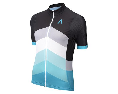 Primal Wear Women's Sound Barrier Helix Short Sleeve Jersey (Black/Aqua)