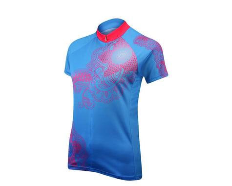 Primal Wear Women's Kashmir Short Sleeve Jersey - Performance Exclusive (Blue/Pink) (Xxlarge)