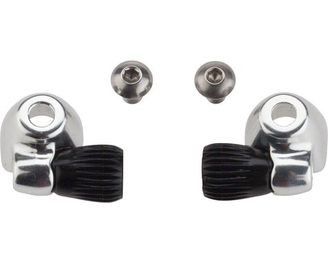 Problem Solvers Downtube Housing Stops with Barrel Adjusters (Silver) (2)