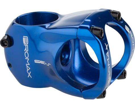 """Promax S-35 Stem - 50mm, 35 Clamp, +/-0, 1 1/8"""", Aluminum, Blue"""