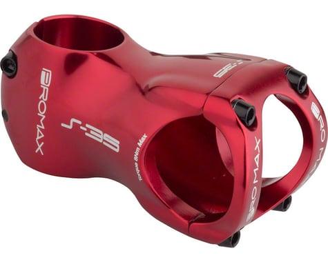 """Promax S-35 Stem - 60mm, 35 Clamp, +/-0, 1 1/8"""", Aluminum, Red"""