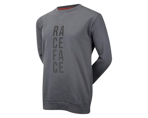 Race Face Stacked Cru Pullover Sweatshirt (Grey/Blue)