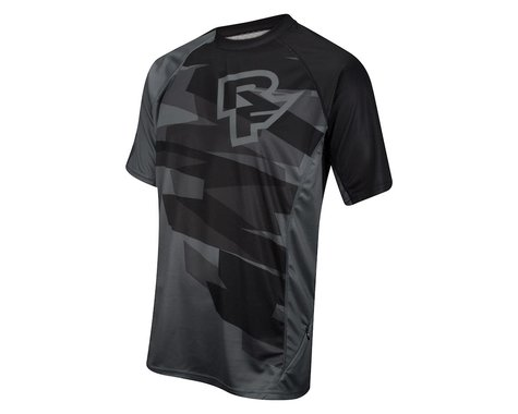 Race Face Indy Short Sleeve Jersey (Black) (Xlarge)