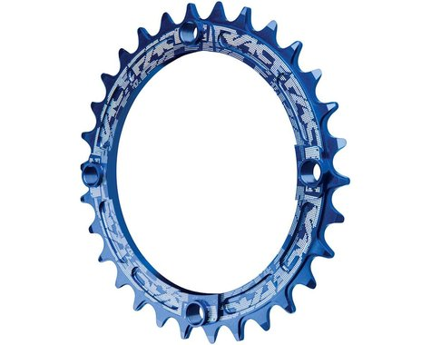 Race Face Narrow-Wide Single Chain Ring (104 BCD) (Blue) (Offset N/A) (30T)
