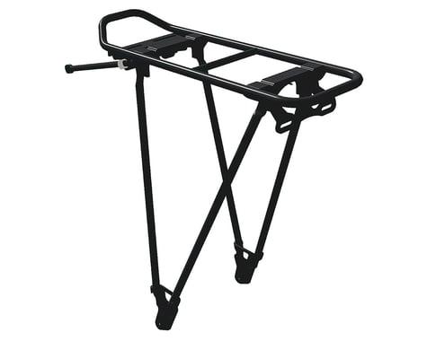 Racktime Foldit Adjustable Rear Mount Rack: Black