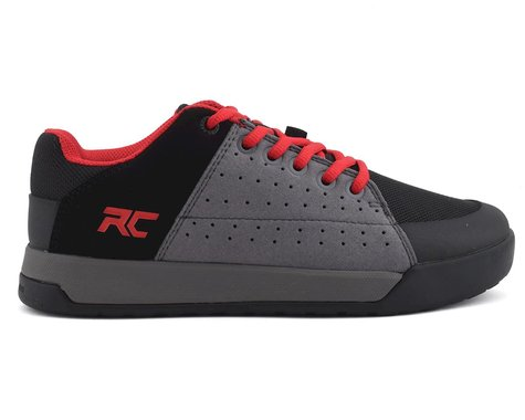 Ride Concepts Youth Livewire Flat Pedal Shoe (Charcoal/Red) (Youth 6)