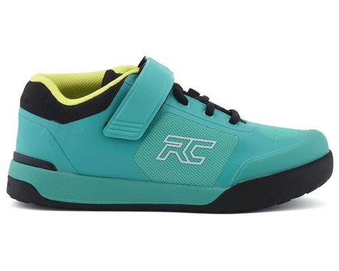 Ride Concepts Women's Traverse Clipless Shoe (Teal/Lime) (8)