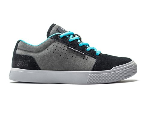 Ride Concepts Youth Vice Flat Pedal Shoe (Charcoal/Black) (Youth 3)