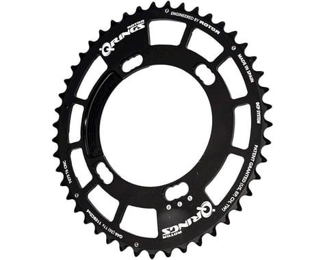 Rotor Q-Ring Asym Three Position Oval Chainring (Black) (110mm BCD)