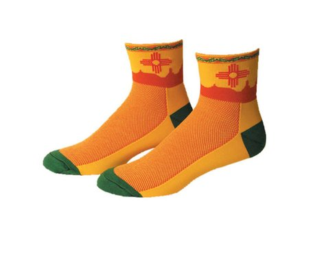 """Save Our Soles New Mexico 2.5"""" Socks (L)"""