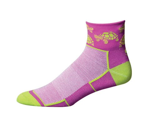 """Save Our Soles See Turtle 2.5"""" W]omens Socks (Purple)"""
