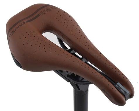 Selle Italia Novus Boost Gravel Heritage Superflow Saddle (Brown) (Titanium Rails)