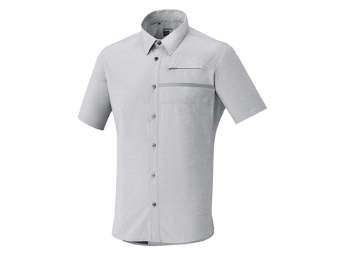Shimano Transit Short Sleeve Check Button Up (Alloy White)