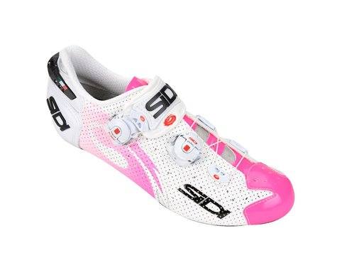 Sidi Women's Wire Air Vent Carbon Road Shoes (White/Pink)