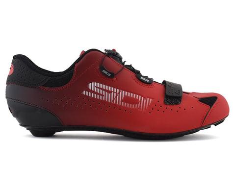 Sidi Sixty Road Shoes  (Black/Red) (45)