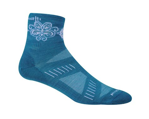 Smartwool Women's PhD Cycling Ultra Light Mini Socks (Teal Gr)