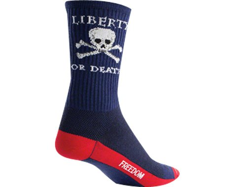 """Sockguy 6"""" Socks (Liberty or Death) (S/M)"""