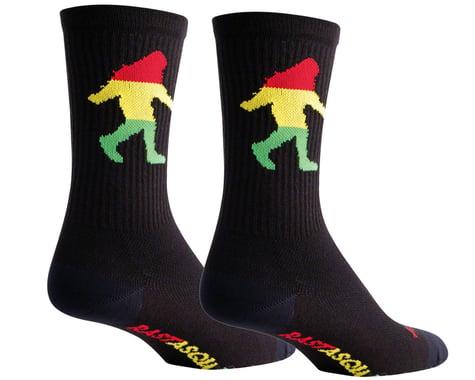 """Sockguy 6"""" Socks (Rasta Squatch) (L/XL)"""