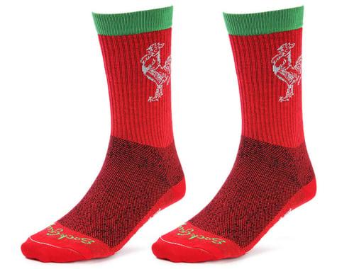 "Sockguy 6"" Socks (Sriracha) (L/XL)"