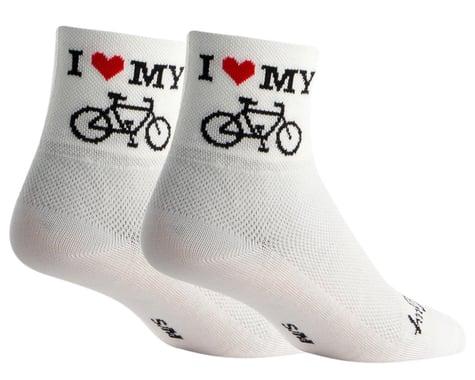"Sockguy 3"" Socks (I Heart My Bike) (L/XL)"
