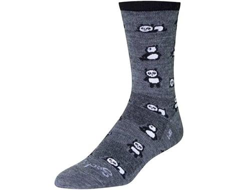 """Sockguy 6"""" Wool Socks (Pandamonium) (S/M)"""