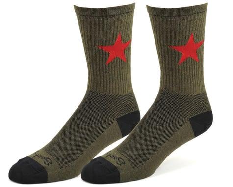 "Sockguy 6"" Wool Socks (Red Star) (S/M)"