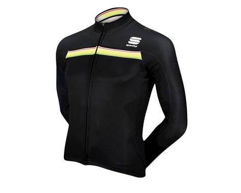 Sportful Bodyfit Pro Thermal Long Sleeve Jersey (Black / Green)