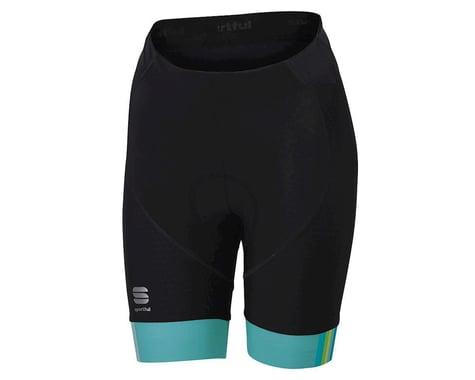Sportful Women's BodyFit Pro Shorts (Black/Aqua)