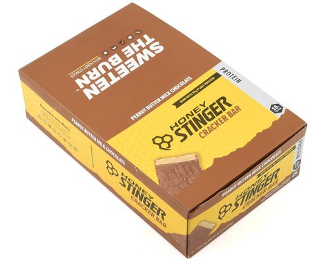 Honey Stinger Organic Cracker Bar (Peanut Butter Milk Chocolate) (Protein) (12 | 1.94oz Packets)