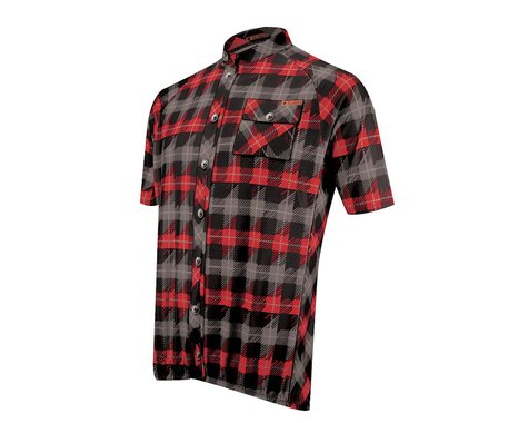 Sugoi Lumberjack Short Sleeve Jersey - 2016 (Black/Red)