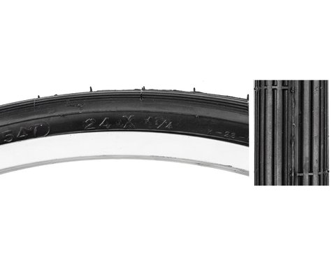 "Sunlite Recreational Tire (Black) (24"") (1-1/4"")"