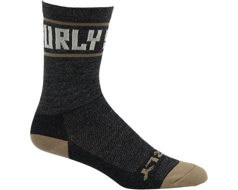 "Surly Sports Logo 5"" Wool Sock (Black/Cream)"