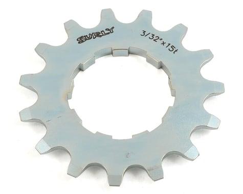 """Surly Single Speed Splined Cog (Silver) (3/32"""") (15T)"""
