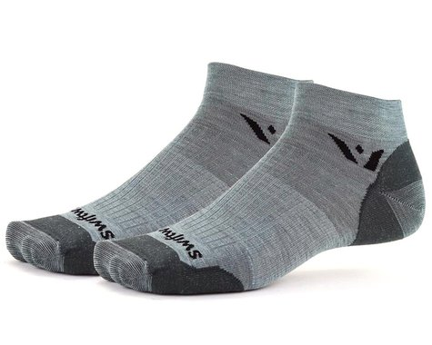 Swiftwick Pursuit One Ultralight Socks (Heather Grey) (M)